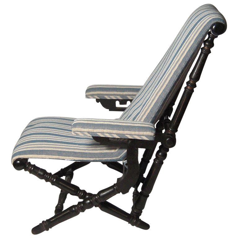 Hunzinger Folding Arm Chair, New York, Circa 1866