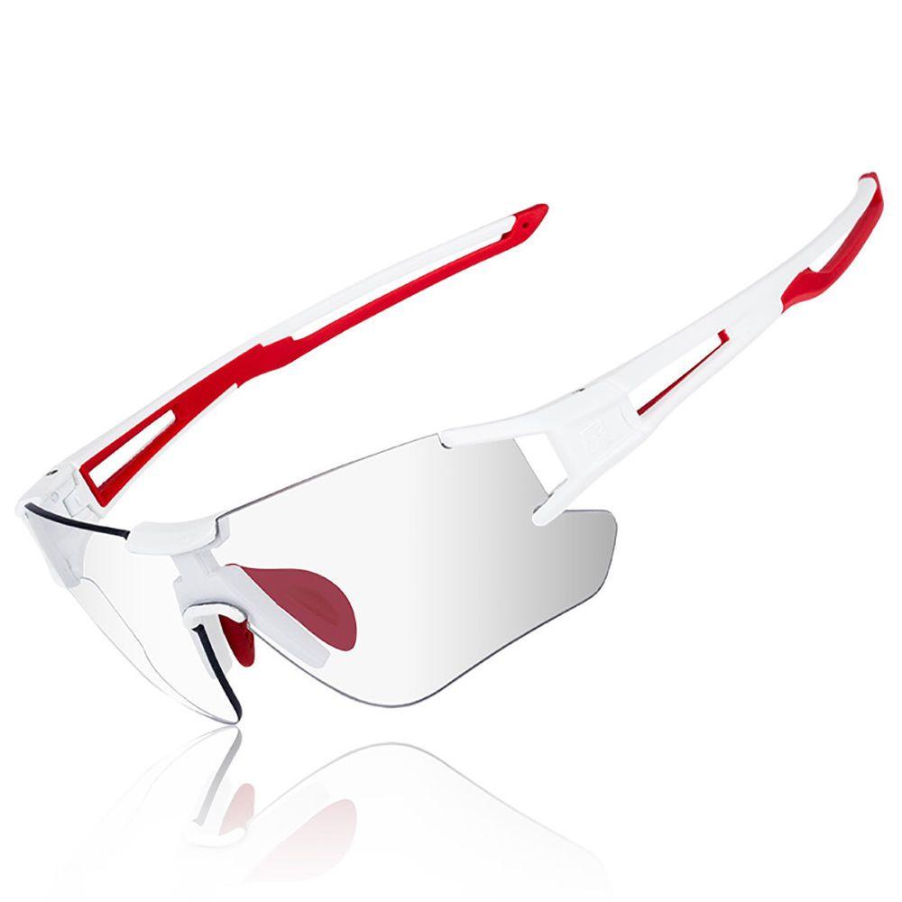 RockBros Polarized Cycling Glasses Sports Glasses Sunglasses Goggles White Red