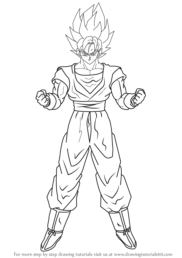 Goku Super Saiyan Is A Male Character From The Manga Dragon Ball Z He Is Capable Of Changing His Different Col Goku Drawing Dragon Coloring Page Easy Drawings