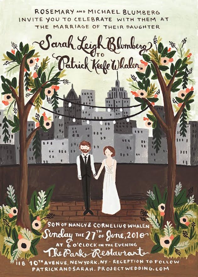 Personalised Portrait & Paper Goods; Illustrated Wedding ...