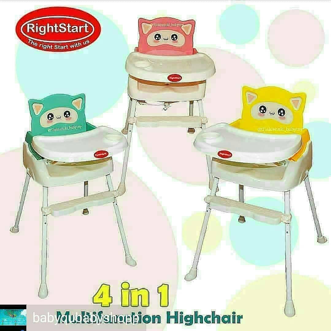 Highchair Rightstart Price 421 000 High Chair Rightstart Dengan Motif Dan Warna Yang Unik Dan Menarik Terdapat 4 Posisi Duduk Y Baby Shop High Chair Decor