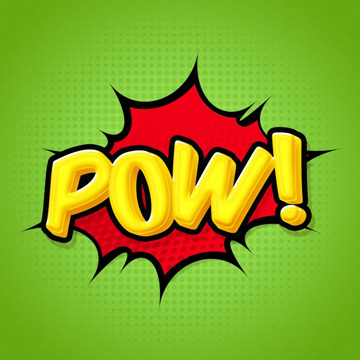 How To Create A Comic Book Text Effect In Photoshop