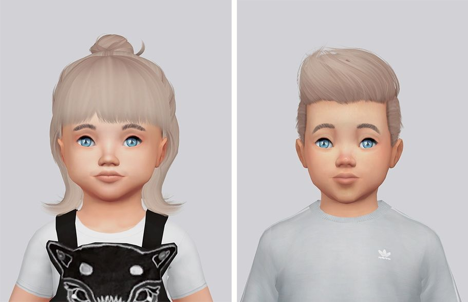 Kalewa A Toddlers Hair Pack Sims4cc Pinterest Sims 4 Sims