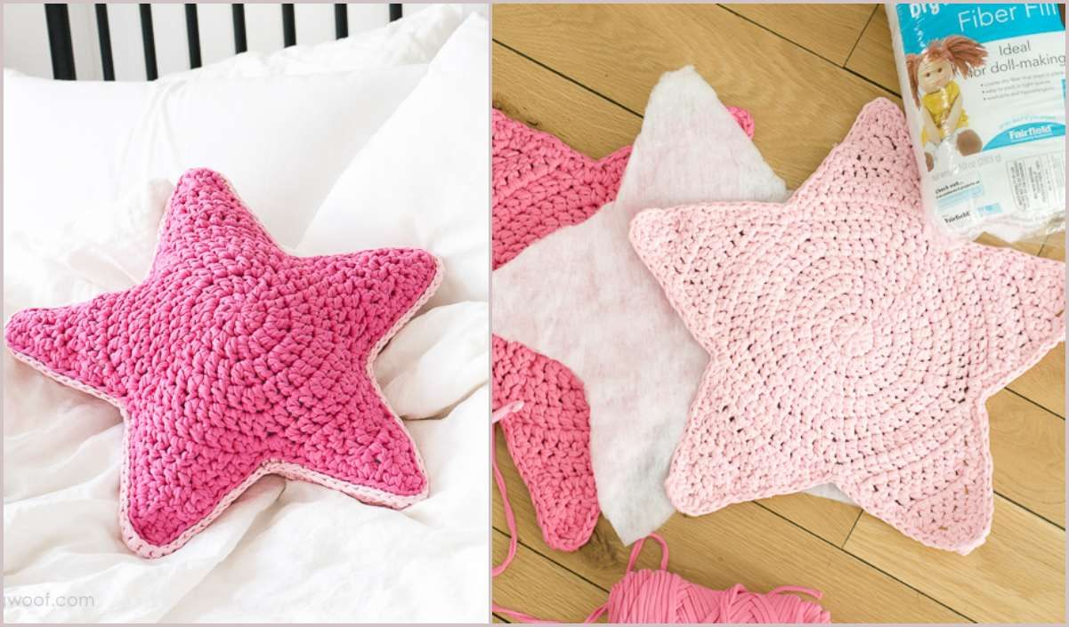Sirius Star Pillow Free Crochet Pattern Crochet Star Patterns Star Pillows Crochet Stars
