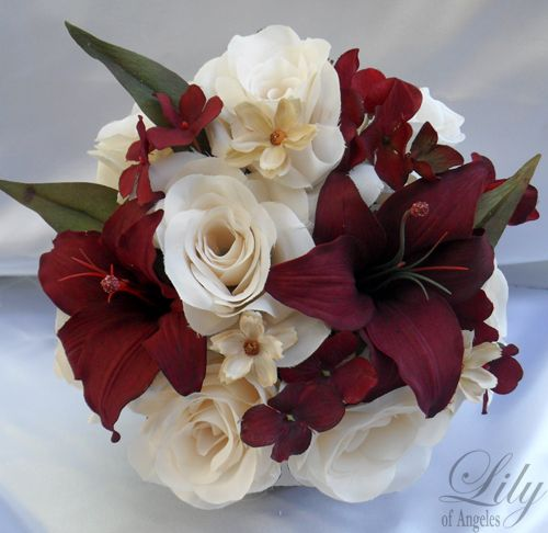 Center pieces for weddings burgundy details about