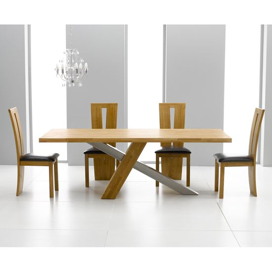 Merveilleux Antonio 225cm Solid Oak Dining Table And 8 Arizona Chairs