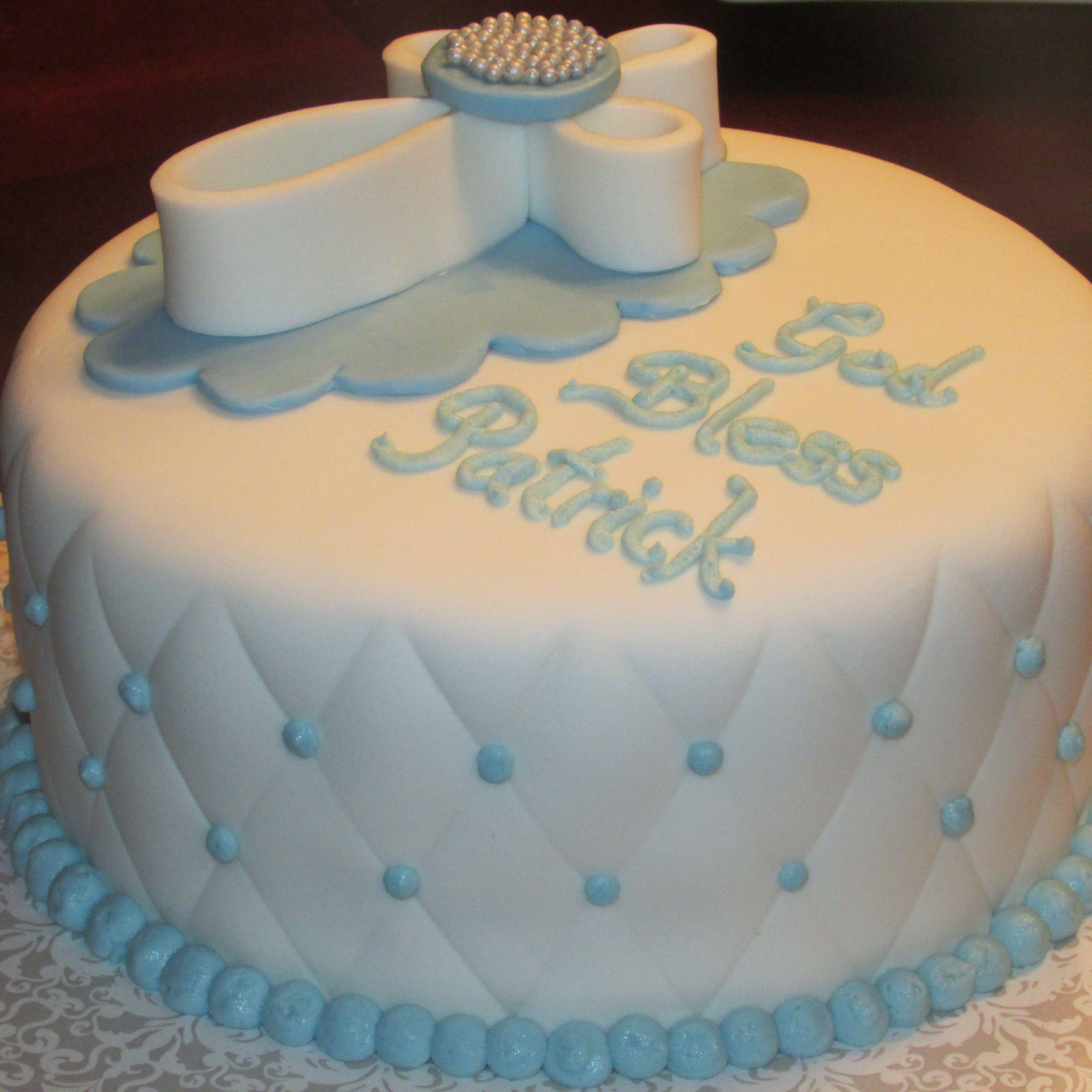 Baptism Cake Boy Nancycakes On Fb