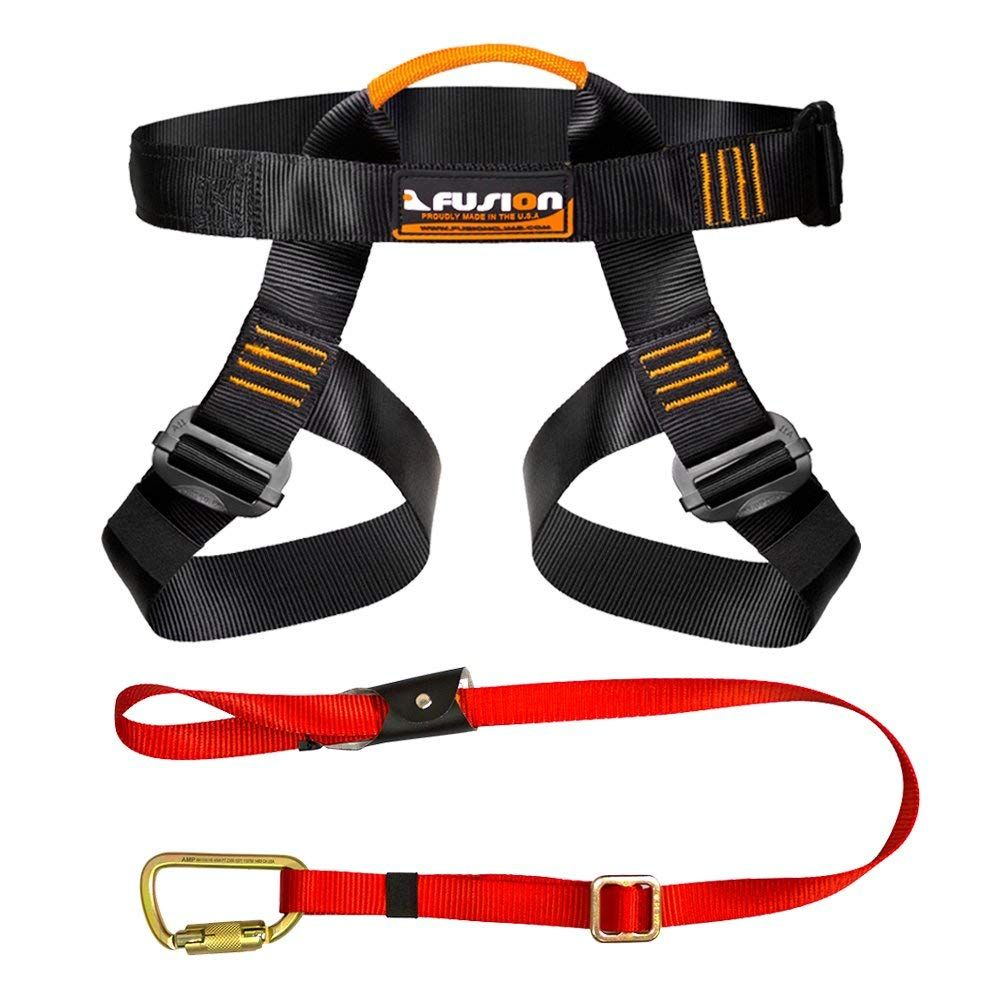 Fusion Climb Tactical Edition Adults Commercial Zip Line Kit Harness//Lanyard Bundle FTK-A-HL-04