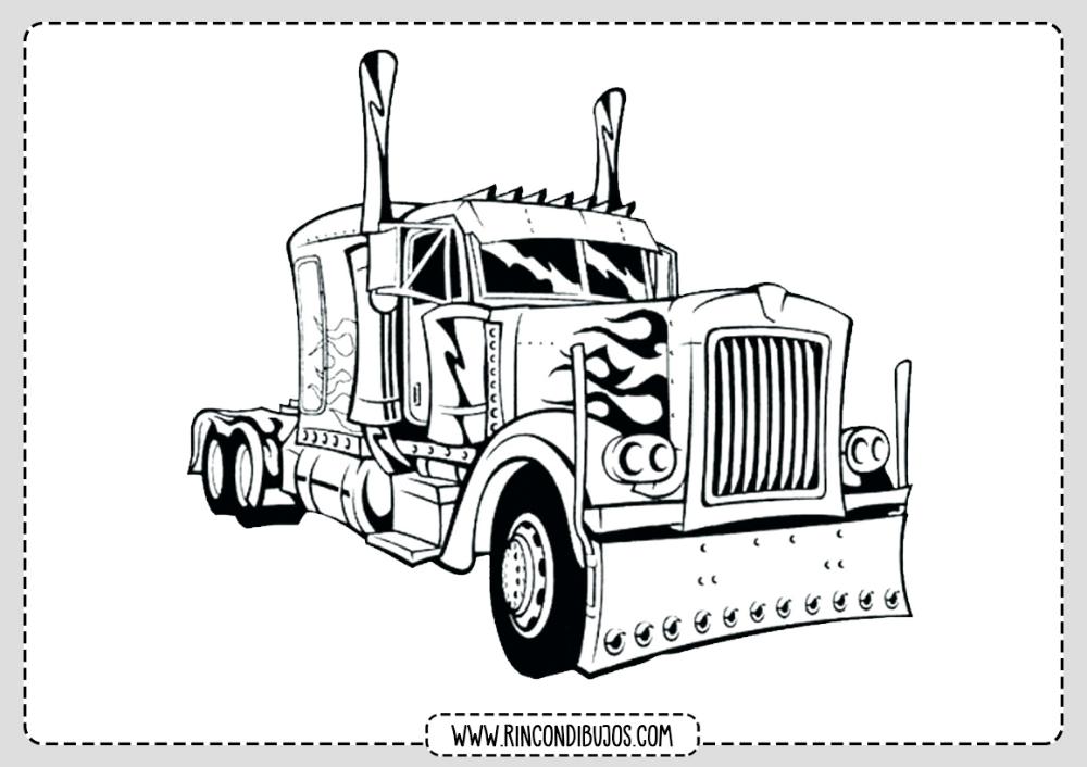 Camion Para Colorear Rincon Dibujos Camion Dibujo Tatuaje De Camion Camion De Volteo