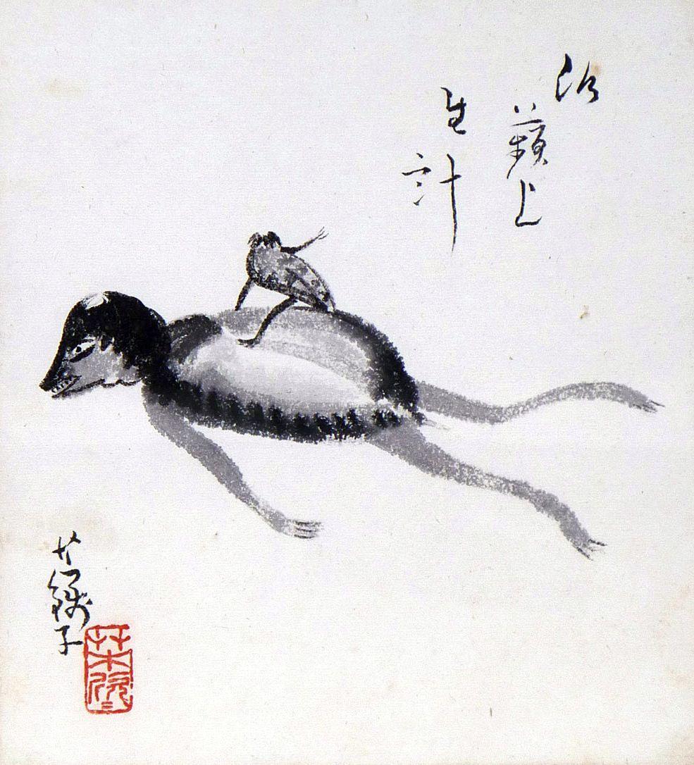 Kappas by Usen Ogawa 小川芋銭 (1868-1938).