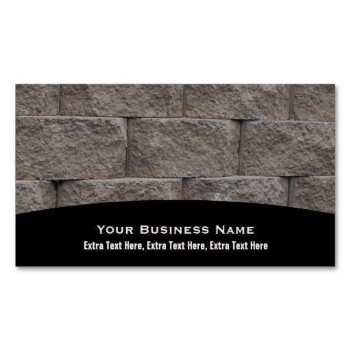 #Masonry #Brick #Wall #Business #Cards