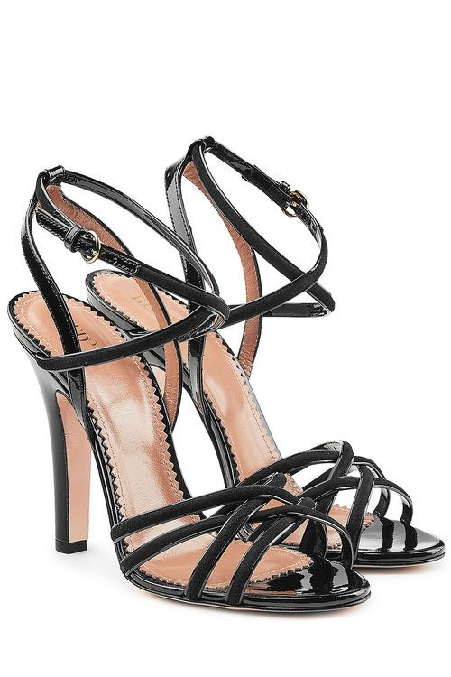 2c54f7d1fef RED VALENTINO Patent Leather Sandals with Suede.  redvalentino  shoes