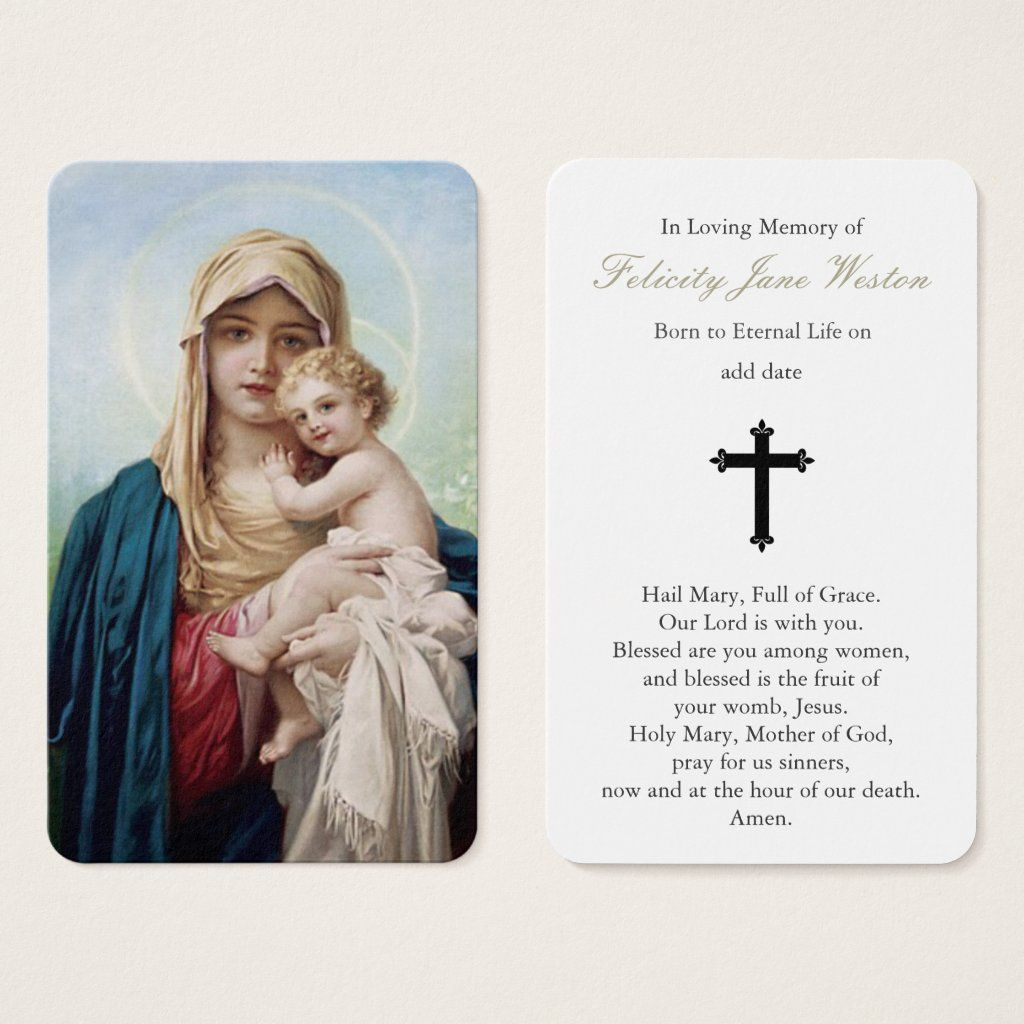 Prayer Cards Mother Mary & Baby Jesus Gender: unisex. Age Group: adult. Pattern: floral.