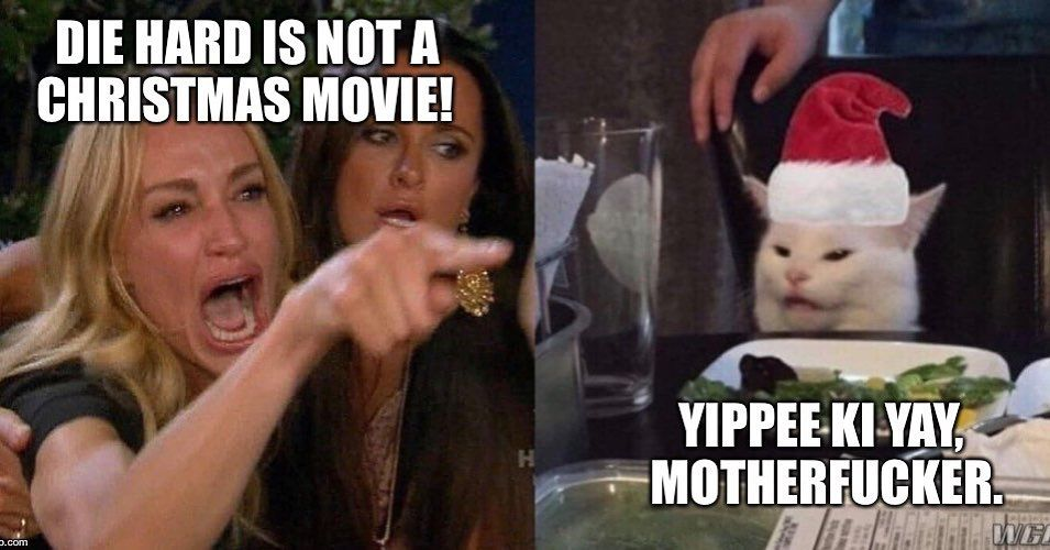 Merry Christmas Christmas Movies How To Be Outgoing Funny Jokes Yay meme | happy friday meme, grumpy cat meme christmas, memes. pinterest