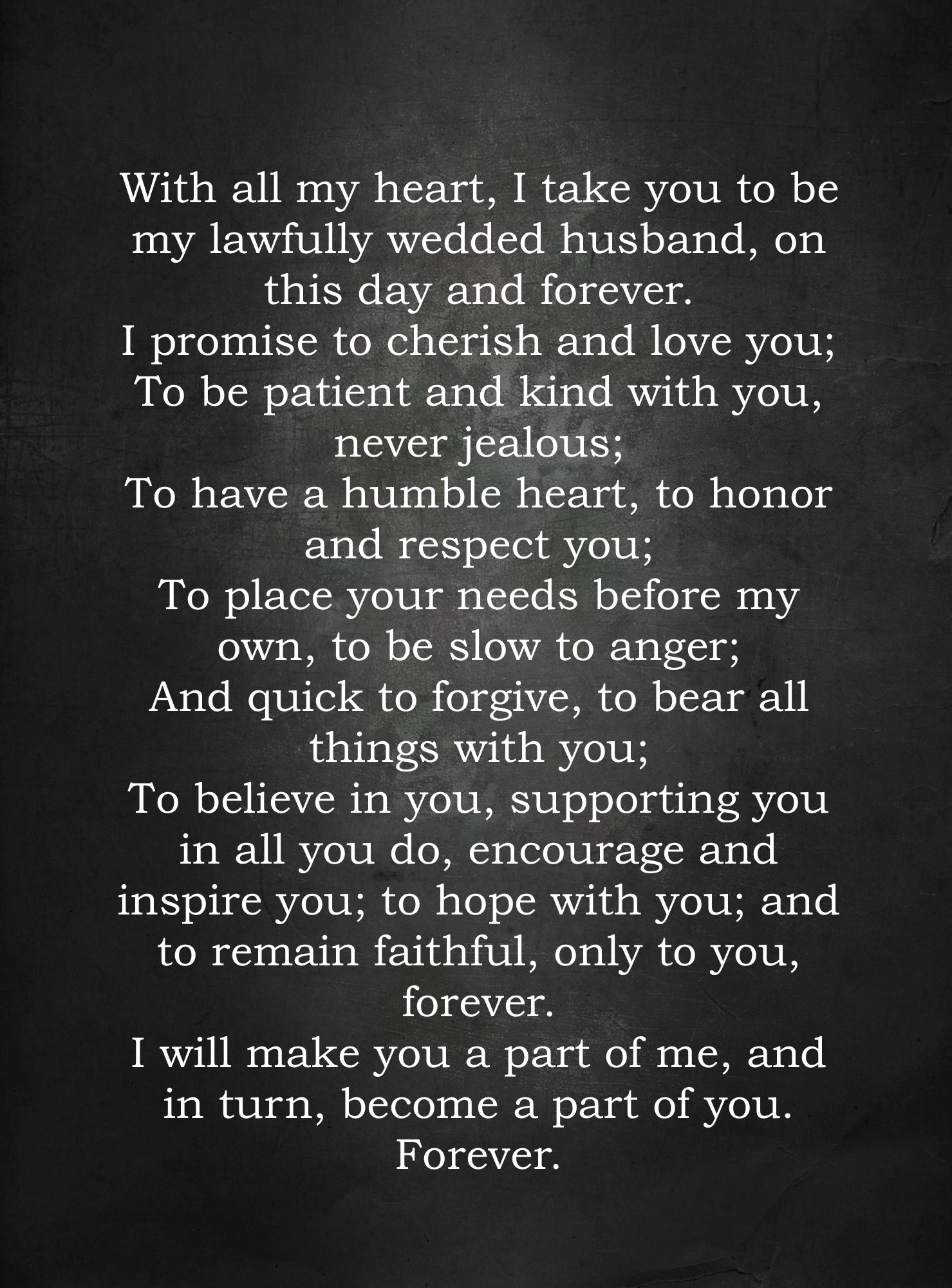 Wedding Vow I Tweaked 1st Corinthians 13 What A Promise 3 Wedding Vows Vows Wedding Ceremony Readings