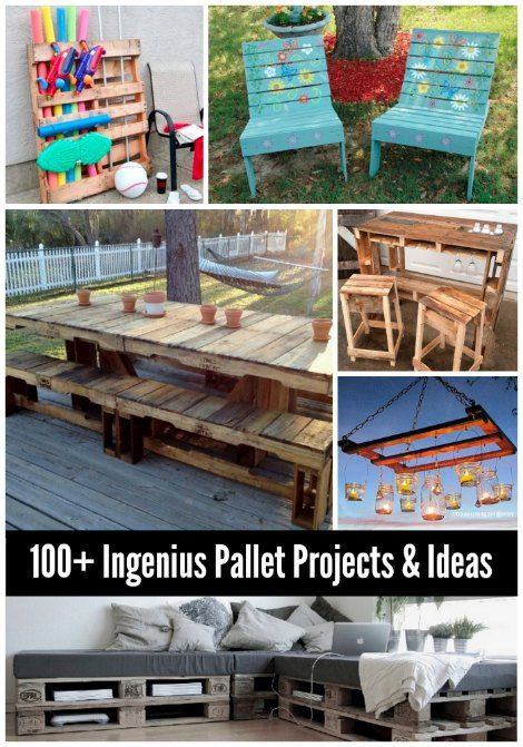 Many wood pallet projects and ideas are