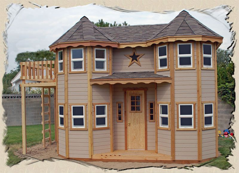 Outdoor Playhouse | Castle Playhouse Plans Instructions To Build An Outdoor  Victorian Play .