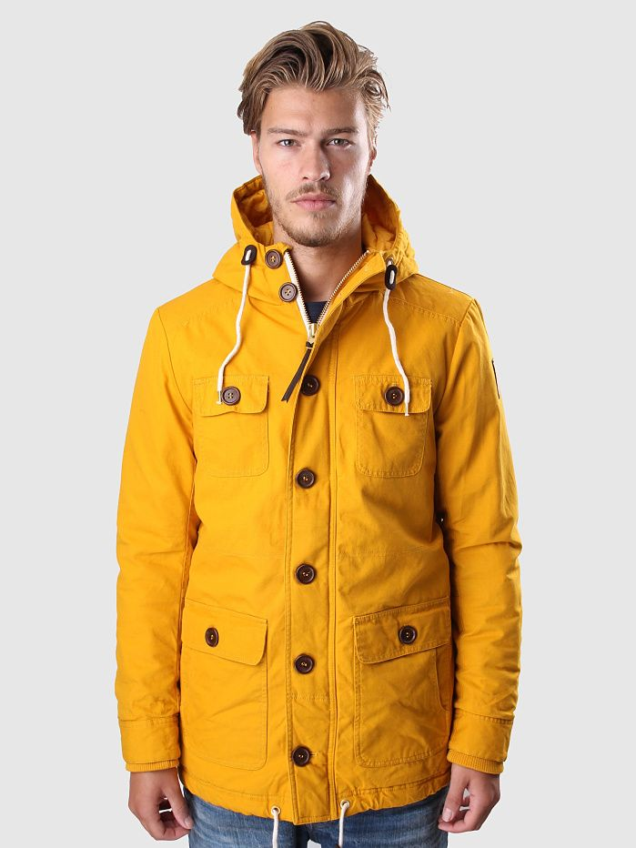 Revolution - Alvin Parka Jacket Washed Cotton Yellow | FreshCotton ...