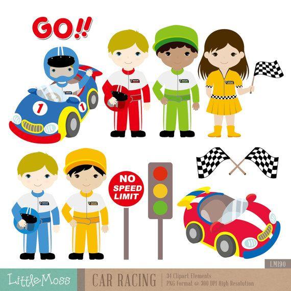 Car Racing Digital Clipart Etsy Digital Clip Art Clip Art Digital Embroidery Patterns