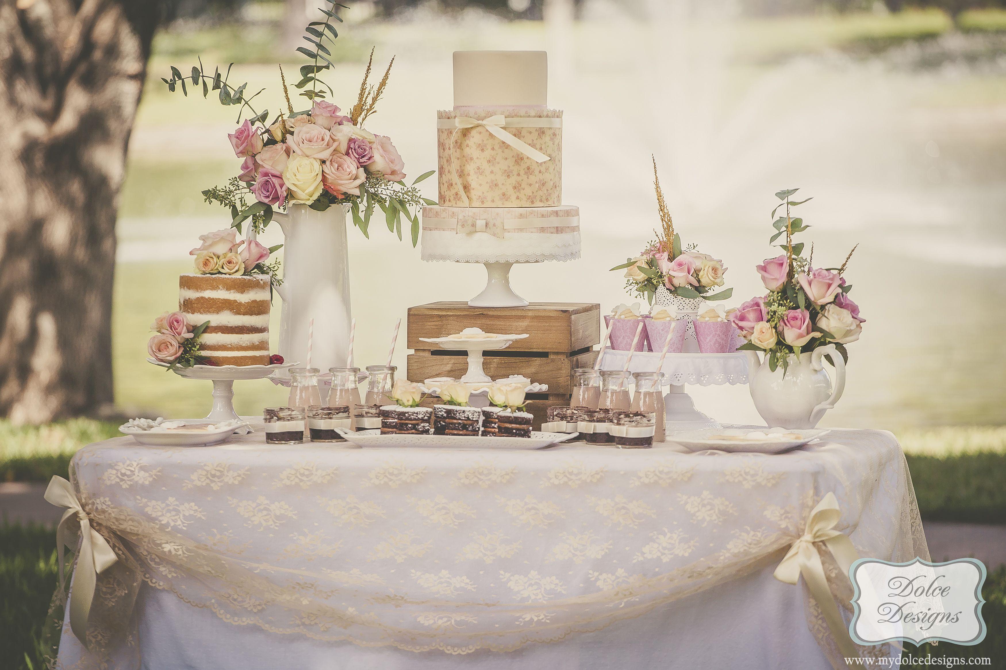 shabby chic bridal shower dessert table in houston texas ...