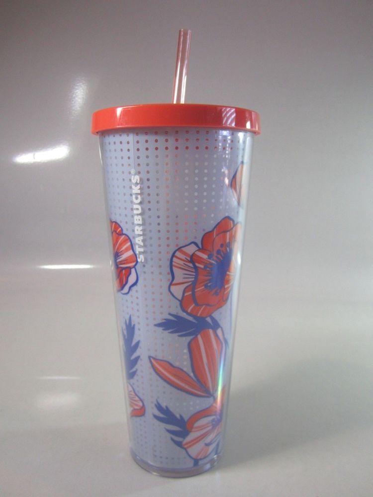 3749ab95f02 NEW Starbucks Poppys Acrylic Insulated Venti Cold Cup Tumbler ~ NWT # Starbucks