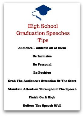 High School Graduation Speeches Tips   Pinteres