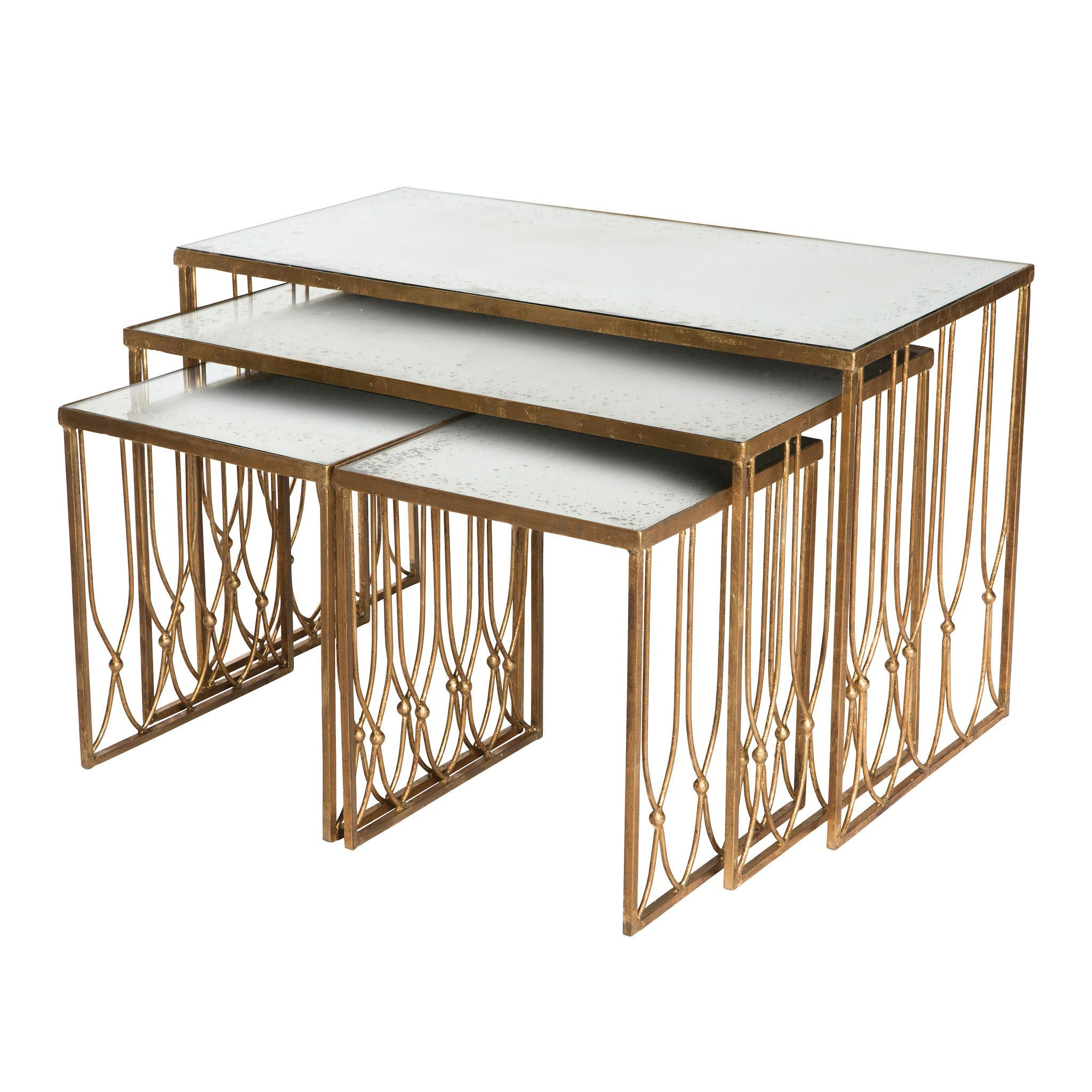 Grubb Nested Coffee Tables Set design by Aidan Gray