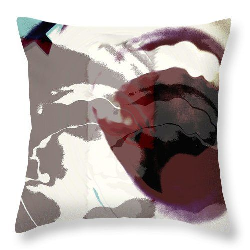 Abstract Throw Pillow featuring the photograph Being Vocal by Karen Christine Boissonneault