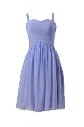 Short Periwinkle Bridesmaid Dresses
