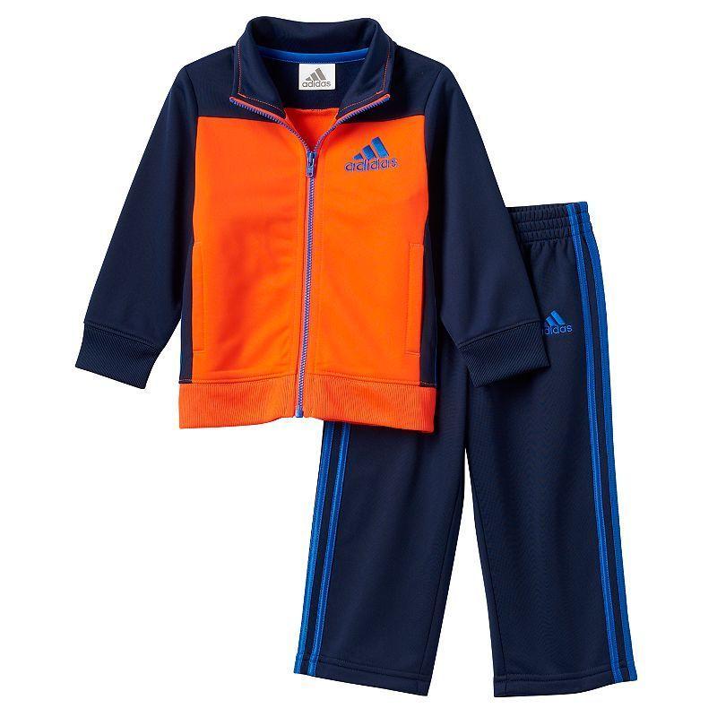 d5387b6fa Baby Boy adidas Striped Sport Track Jacket & Pants Set   Products ...