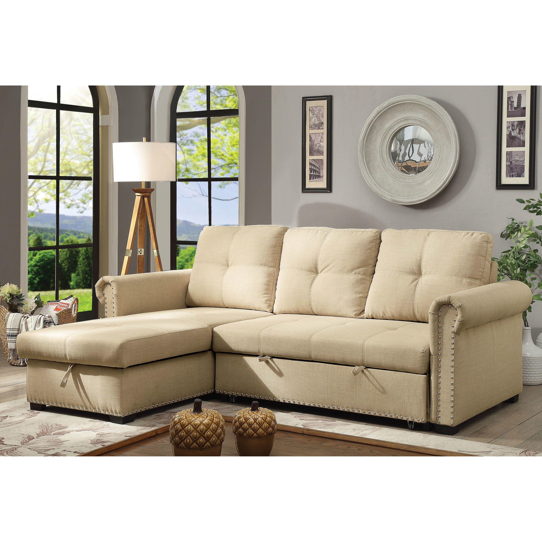 Pleasing Furniture Of America Austin Beige Linen Sectional Sofa Andrewgaddart Wooden Chair Designs For Living Room Andrewgaddartcom