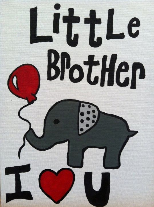 For Baby Brother From Big Brother Baby Shower Card Sayings I Love My Brother Card Sayings