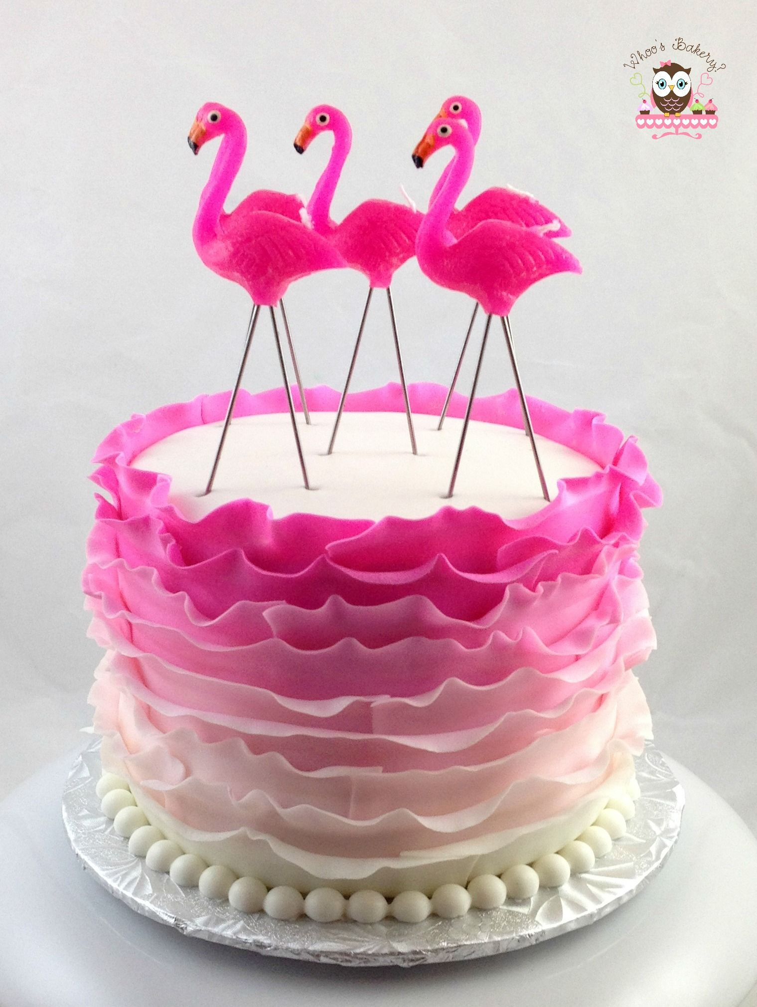 pink flamingo cake flamingo cake ruffle cake flirty cake pink cake cakes cupcakes. Black Bedroom Furniture Sets. Home Design Ideas