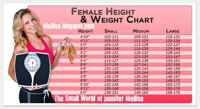 Female Height  Weight Chart The Small World Of Jennifer Idellise