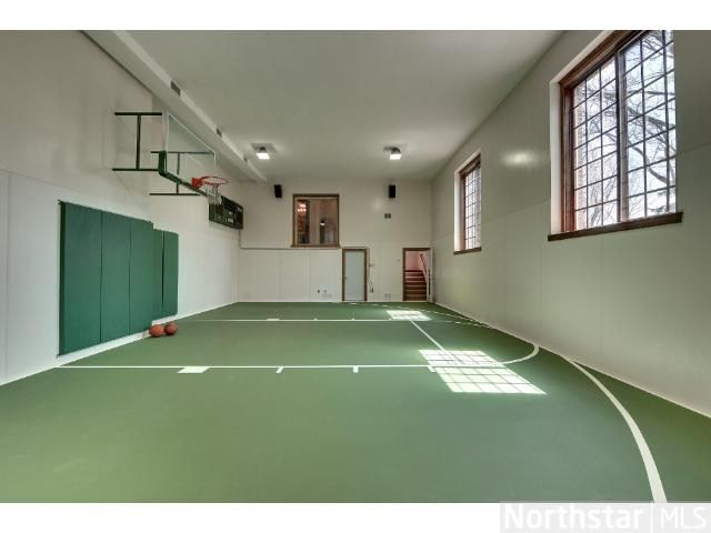 Practice Your Free Throws In Your Own Private Indoor Gym Indoor Basketball Indoor Basketball Court Basketball Room