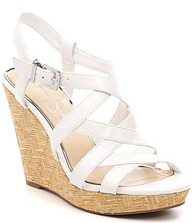 badedbc7d5e0e Jessica Simpson Jazlin Sling Back Platform Wedges  Dillards- 59.99. Womens  Shoes ...