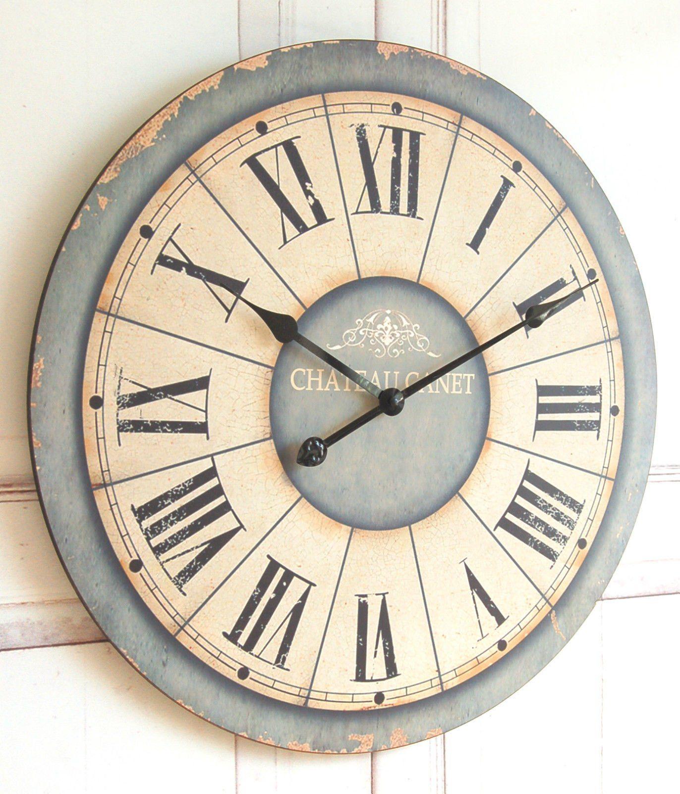 Zauberhafte Landhaus Wanduhr Uhr im Shabby Chic french Antik Chic ...
