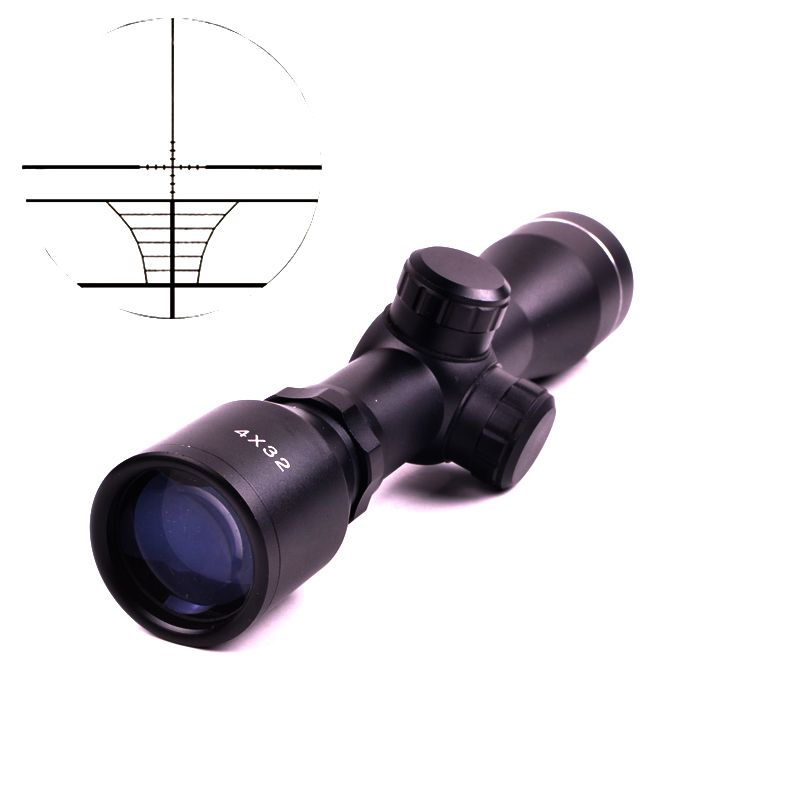 Tactical 4X32 Air Rifle Optics Hunting scope Compact Riflescopes  with 20mm//11mm