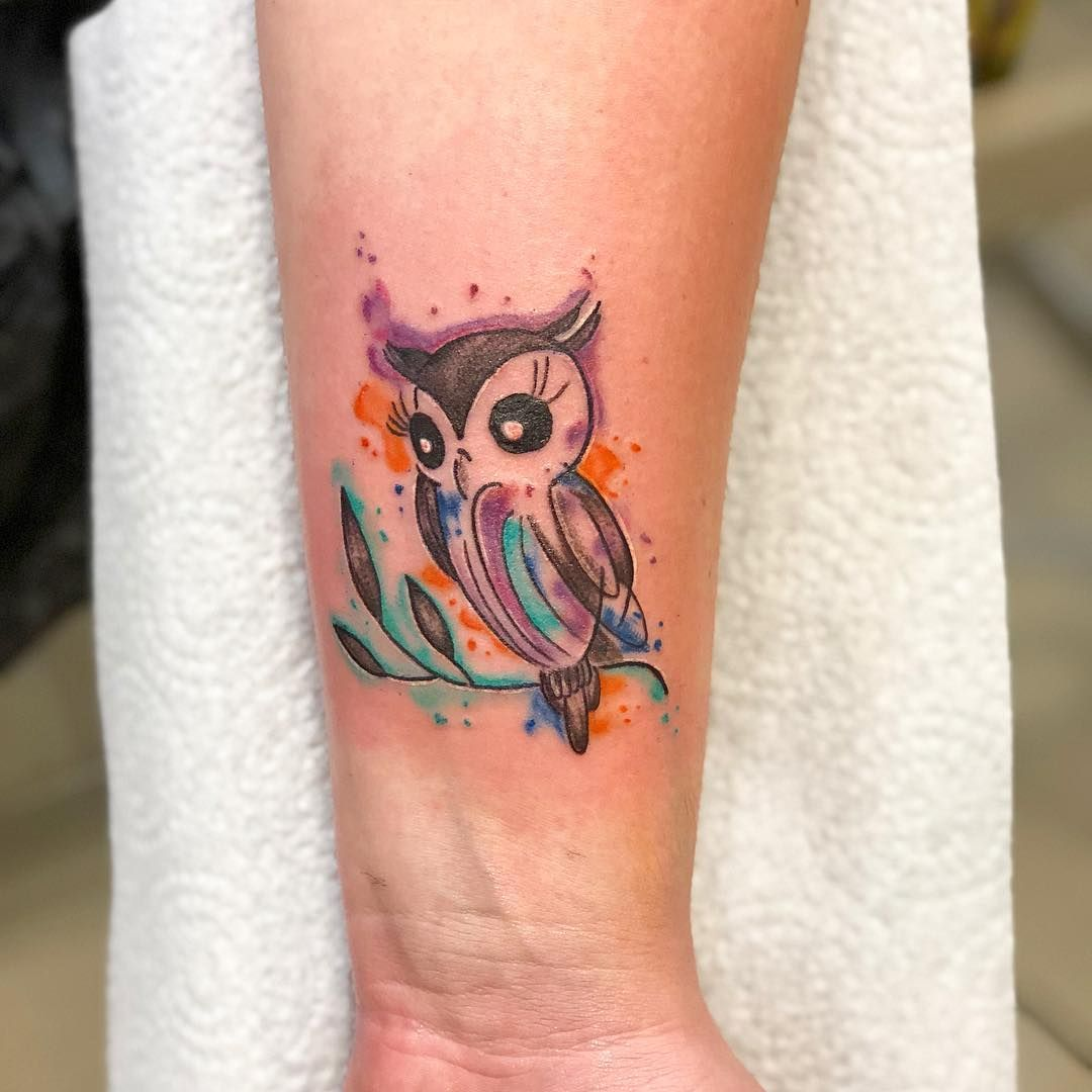 50 Of The Most Beautiful Owl Tattoo Designs And Their Meaning For The Nocturnal Animal In You Kickass Things Watercolor Owl Tattoos Tattoo Designs Owl Tattoo