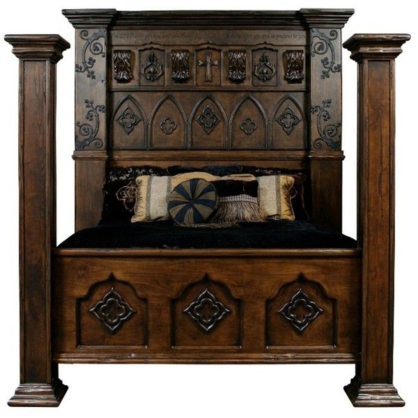Custom made Gothic high style bed high end bedroom set (19,180 CAD