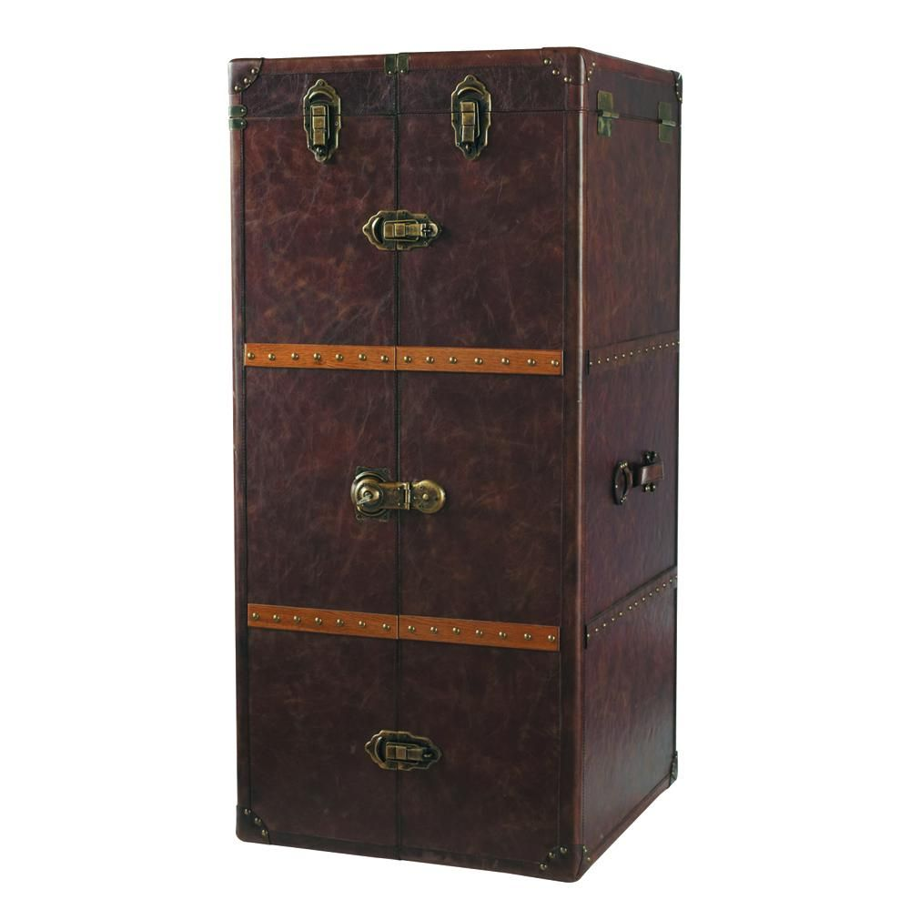 Malle Bar Maison Du Monde leather bar unit with drawers in 2020 | bar unit, wooden bar
