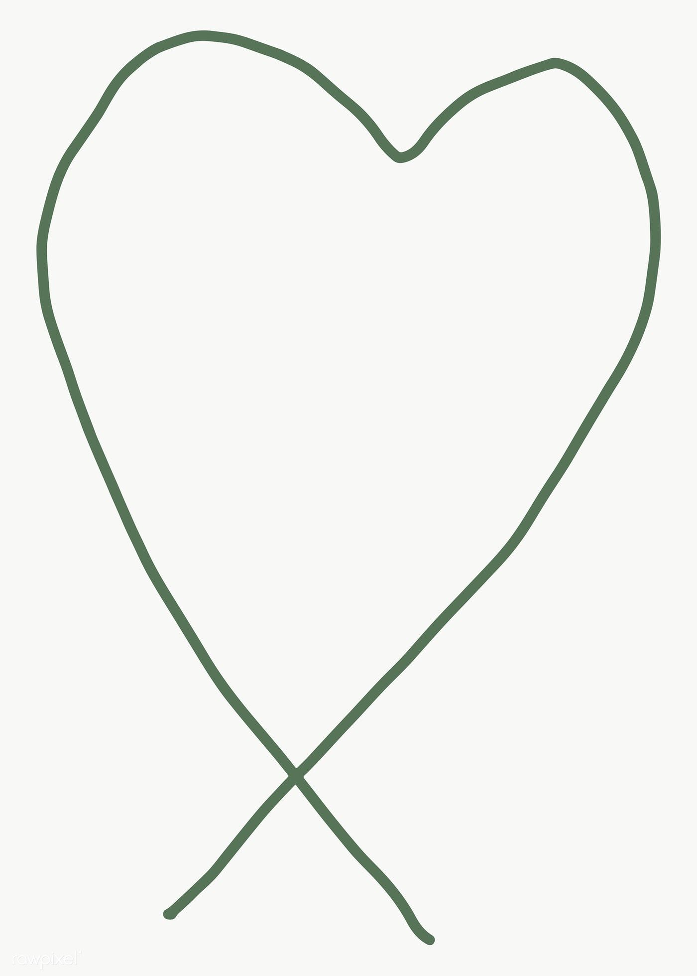 Green Heart Shape Element Transparent Png Free Image By Rawpixel Com Marinemynt Heart Shapes Png Free Png