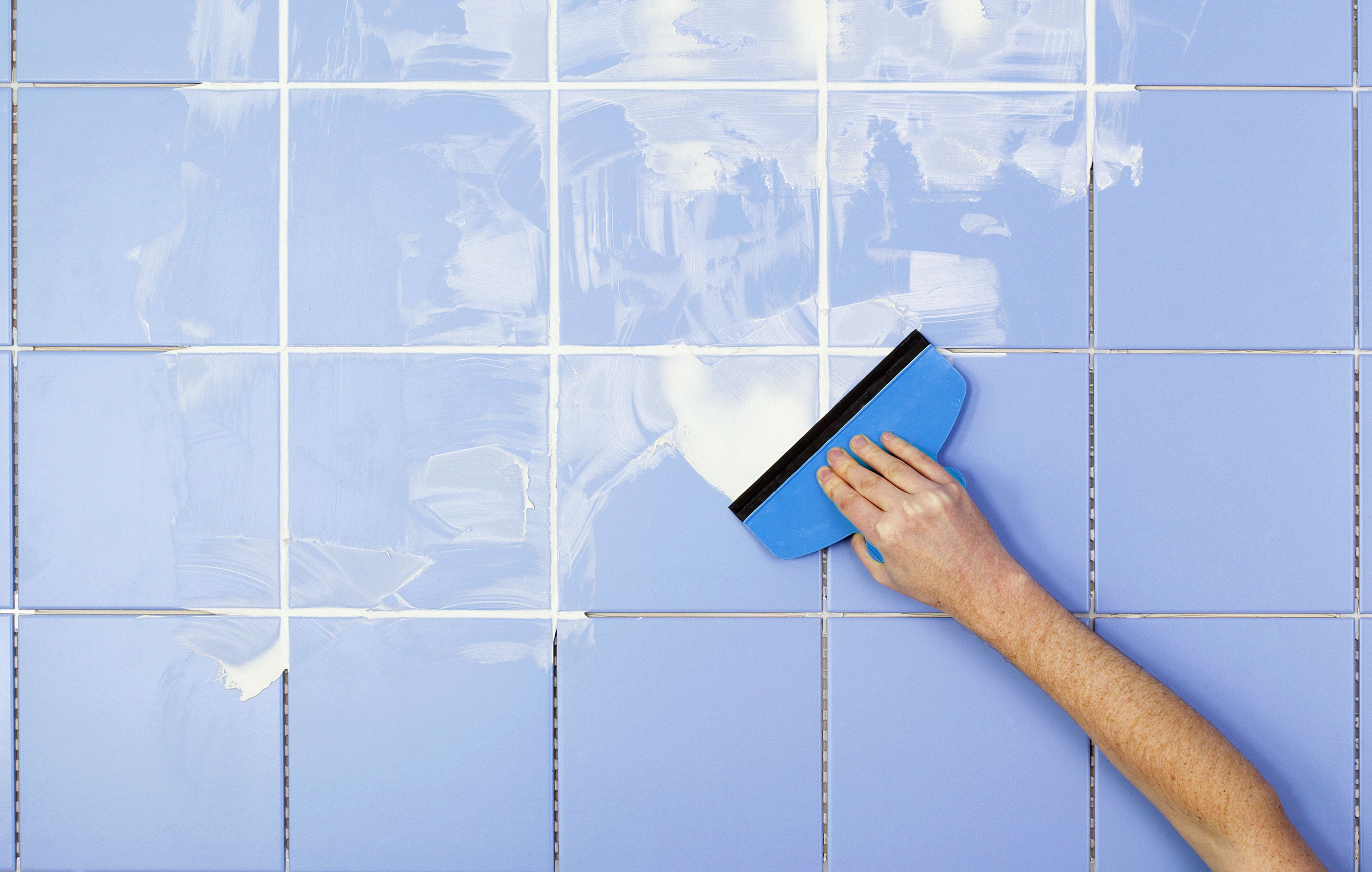 New grout makes a tile installation look brandnew in