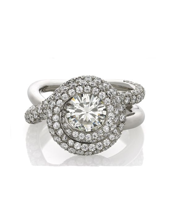 Wrapped Platinum Engagement Ring   Everything by JJBuckar    http://trib.al/HVy1DB3