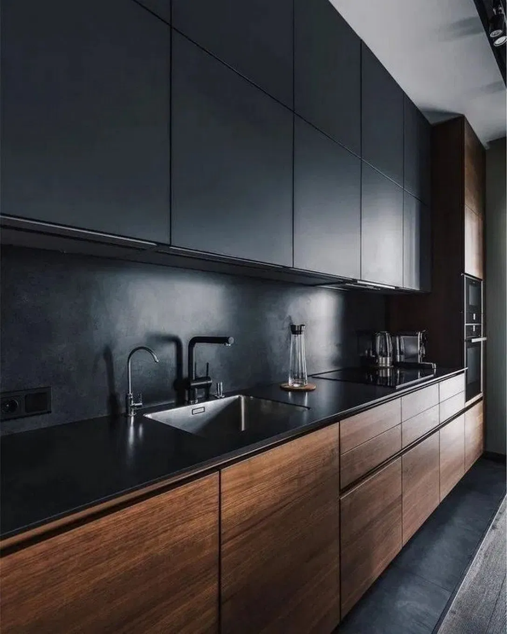 50 Amazing Black Kitchen Design Ideas 2020 Kitchen Design Contemporary Kitchen Design Interior Design Kitchen