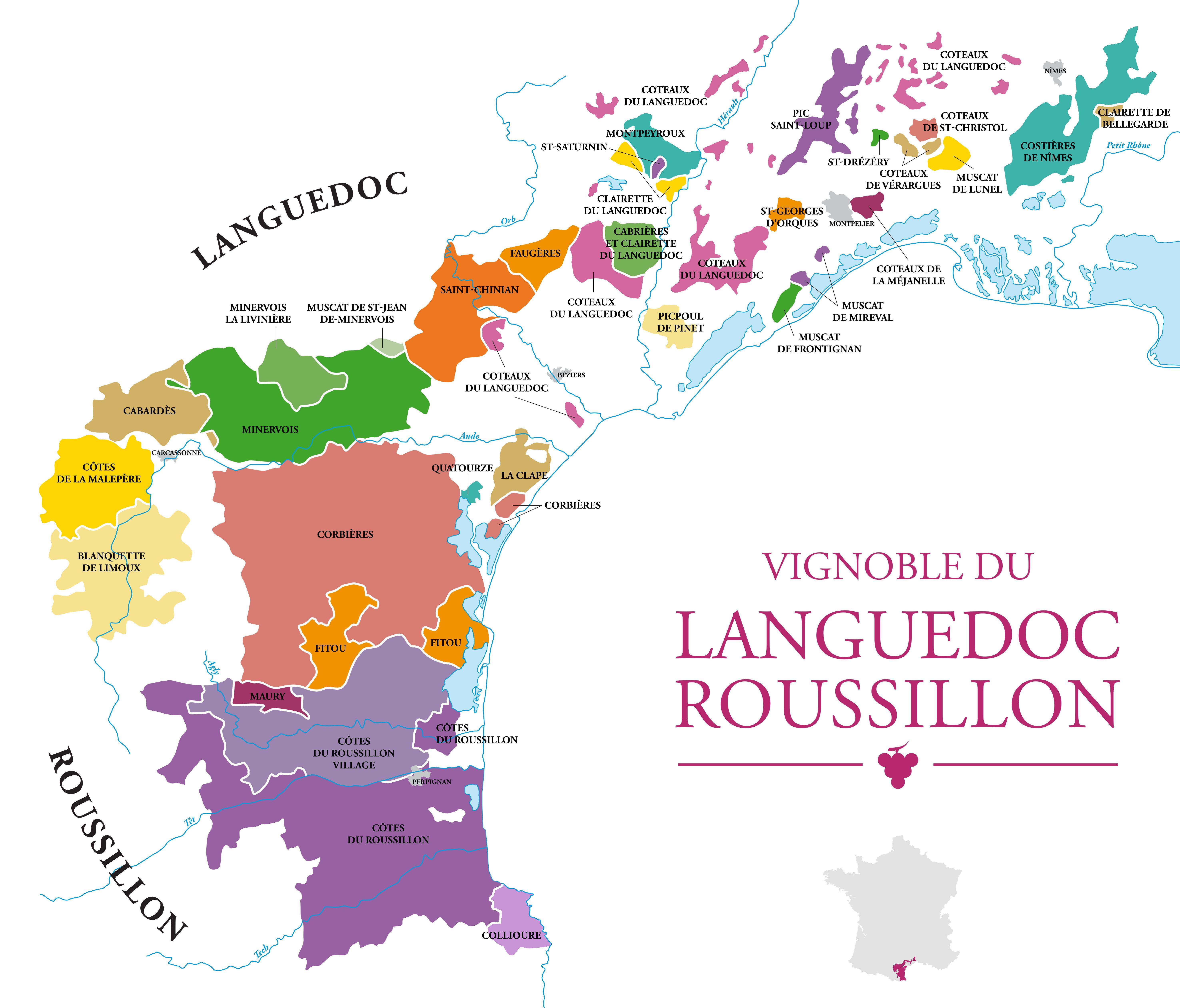 Presque 250 000 Ha De Vignes Voila La Superficie Du Vignoble Du Languedoc Roussillon Un Des Plus Grand Et Ancien Vi Vignoble Carte Des Vins Vignoble Francais