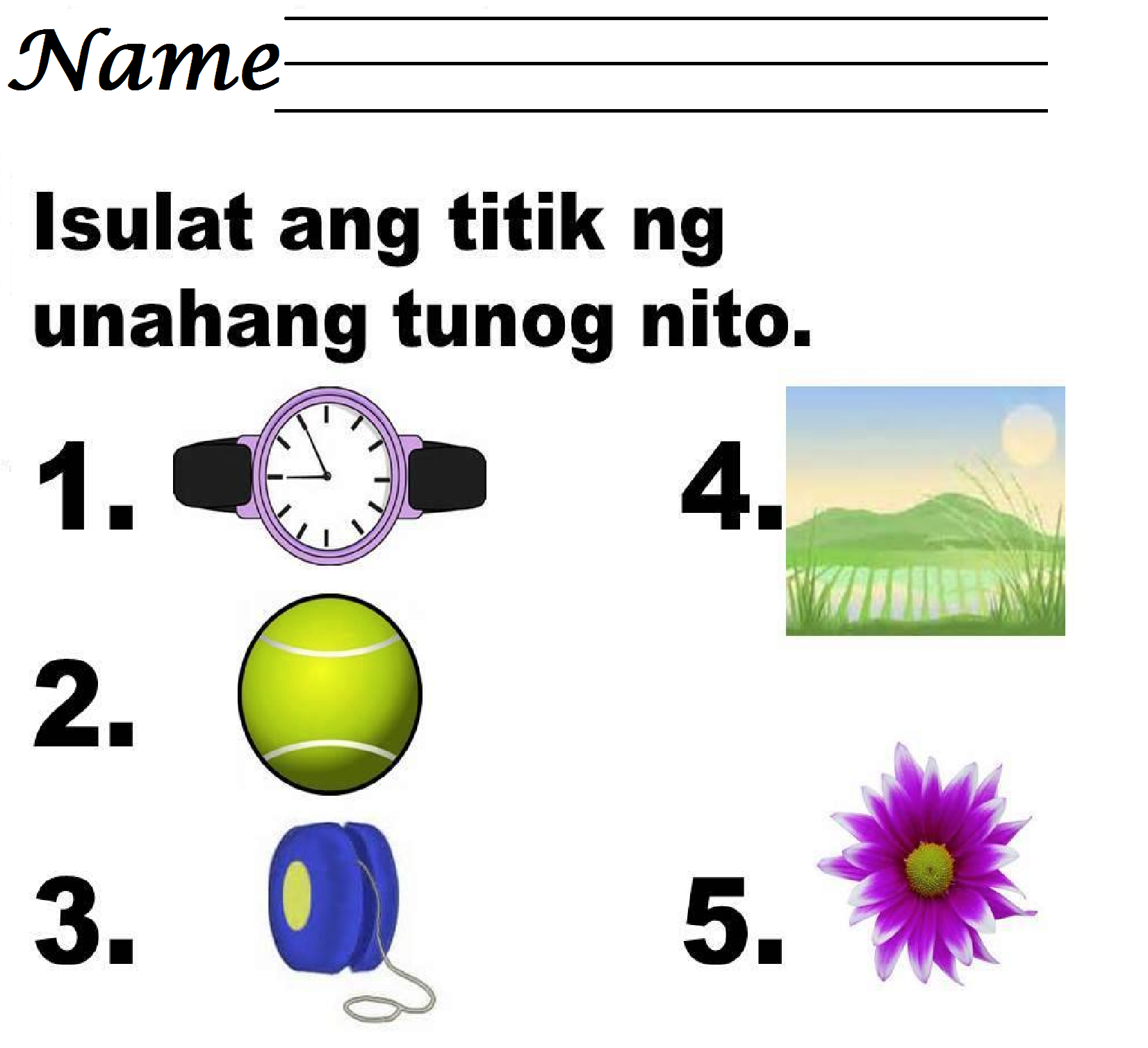 Tagalog Language Worksheets