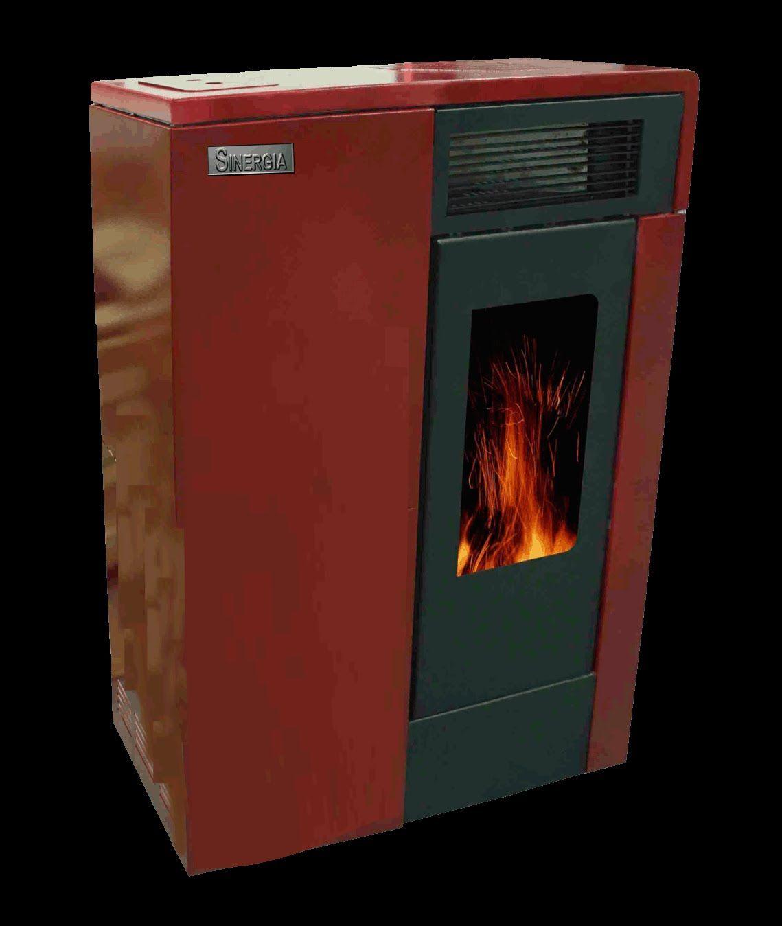 Estufa Sinergia modelo Slim Vento de reducidas dimensiones para que desde su ubicación en un pasillo, pueda dar calor a las habitaciones colindantes.