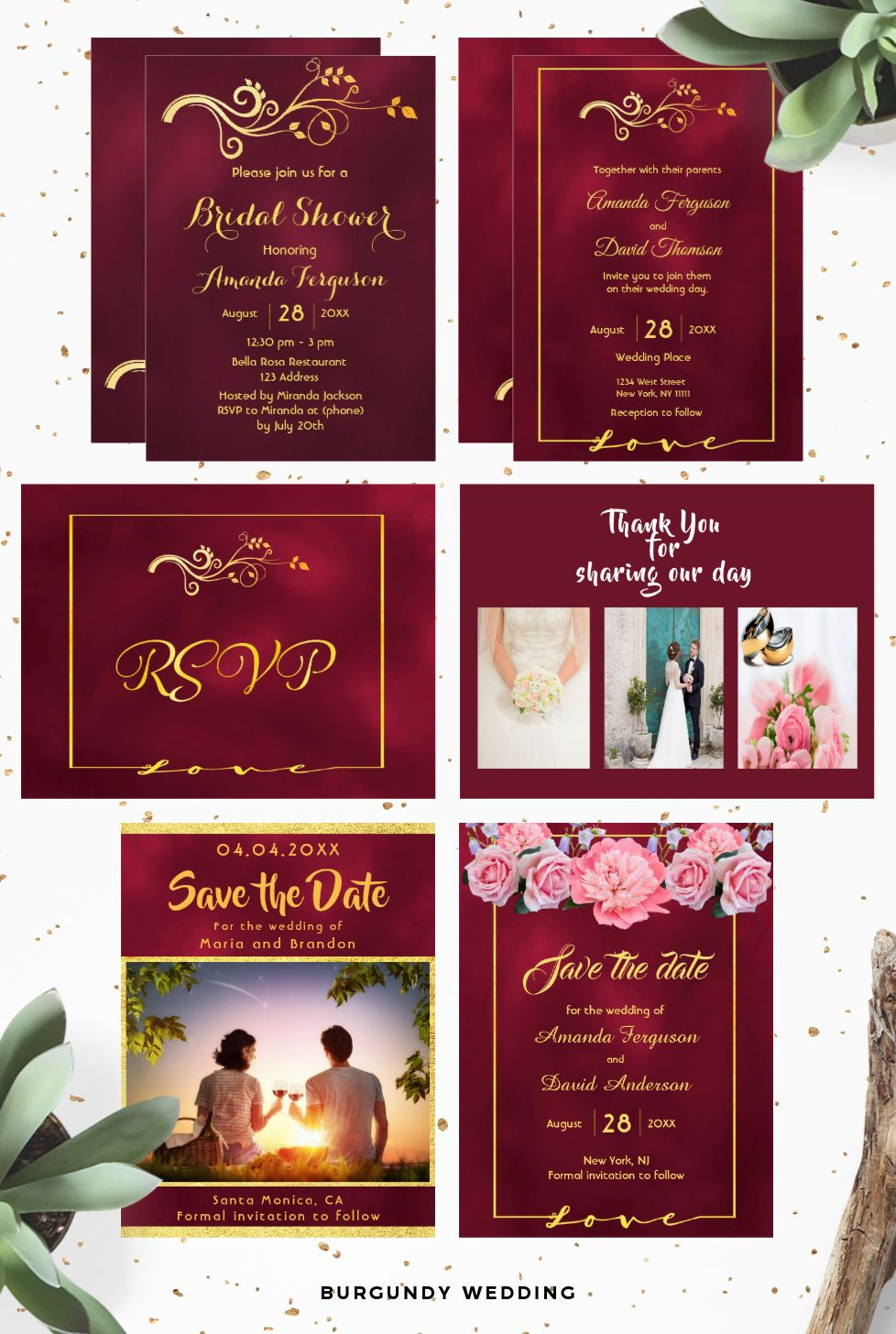 Wedding invitations, save the date cards, bridal shower invitations ...
