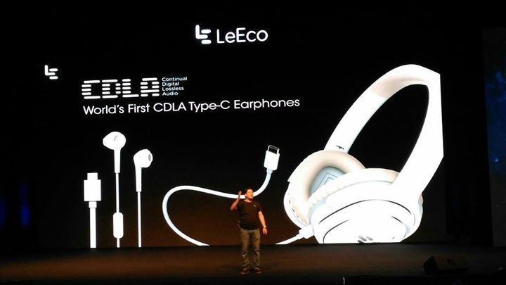 Type C connector for headphones and also World's first type c  #2future LeEco India #LeEco